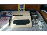 Dragon 32 with games and manuals