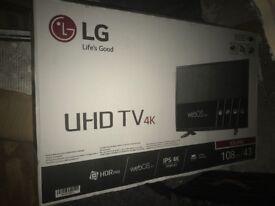 Brand new in box LG 43UH60 43inch 4K smart TV