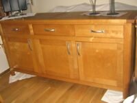 LGE WOODEN SIDEBOARD , GOOD CONDITION , REDUCED FOR QUICK SALE, £150 ONO. NEED GONE!!!