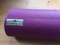 Warrior Mat for Yoga or Pilates - purple/lilac colour.