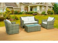 BRAND NEW HEAVY DUTY RATTAN GARDEN PATIO CONSERVERTORY SET THICK HAND WOVEN RATTAN