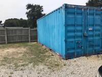 two 20ft storage containers