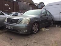 2x LEXUS LS430 4.3 SALOON 4 DOOR PETROL/LPG SPARES OR REPAIR
