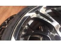 Alloy wheels with New tyres (a set)
