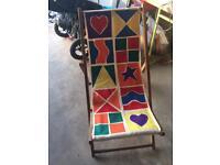 Vintage deck chair garden furniture