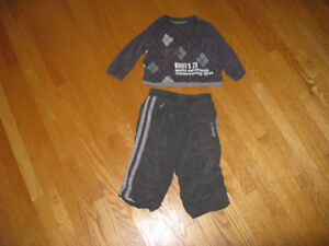 Roots pants and matching top for 1 yr old-18 months.