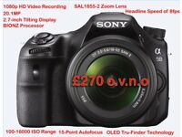 Sony SLT-A58K - DSLR Camera - Excellent Condition - Zoom Lens + Camera Bag