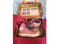 """Size 11 girls- pink and purple converse (as seen worn by JoJo in her video """"boomerang)"""