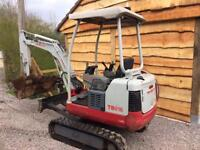 Mini digger hire Bristol JWL plant ltd