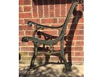 Cast iron bench ends - heavy
