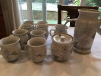Pottery coffee set