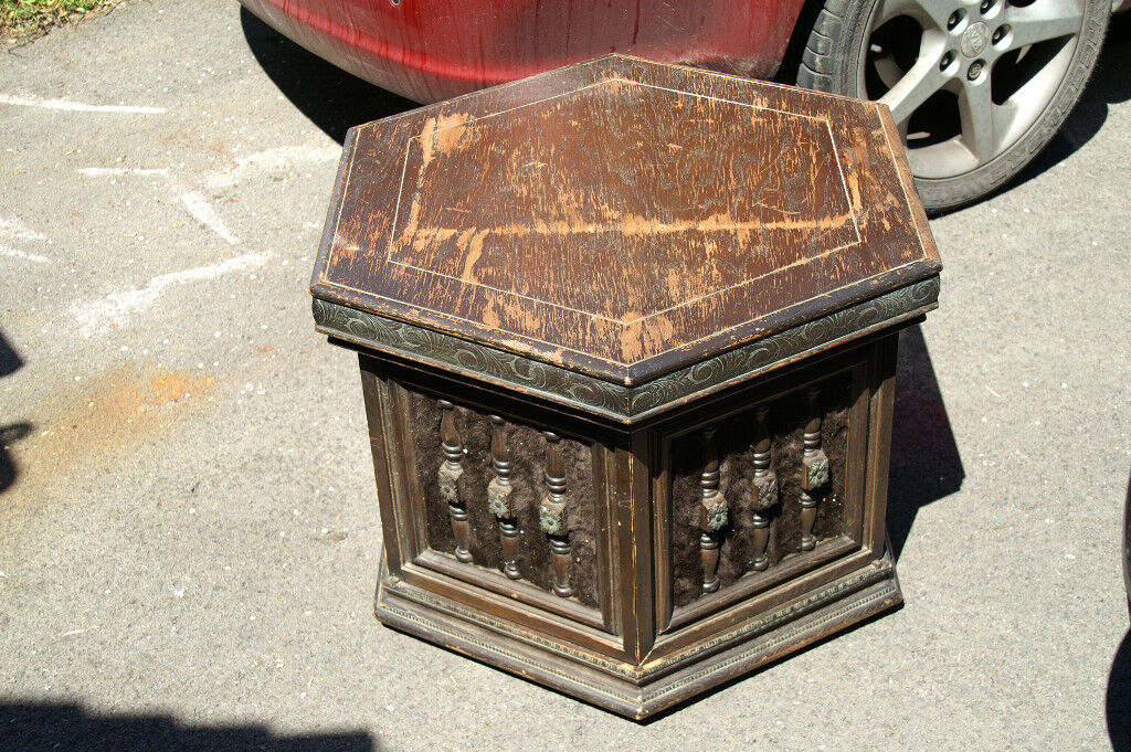 Unusual American Oak Cabinet