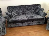 Matching 3 seater sofa and 2 armchairs