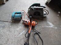 job lot saws & drill.