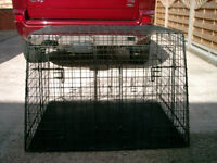 Heavy duty dog cage with divider 4 door foldable
