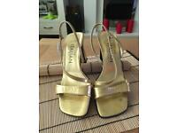 Next Italian Collection Gold Strappy Sandals Size 4