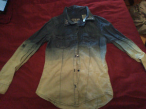 Ladies Guess washed jean shirt size 14