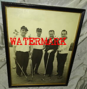 RARE CANADIAN GOLF PHOTO, WESLOCK, CROUTER, CREED, TORONTO, 1960