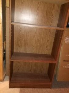 3 shelf bookcase for sale for $30.00.Great for binders