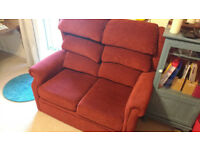 Red sofa, good condition