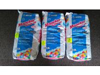 tile floor wall flexible adhesive grout Mapeker grey X3 20 KG bags