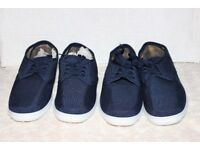 Chums Navy Canvas Shoes - Size 10 - 2 Pairs £15