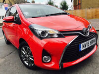 TOYOTA YARIS ICON 1.3 PETROL 2015 AUTO CAT C FULL HISTORY 1 OWNER NOT AURIS POLO GOLF BMW