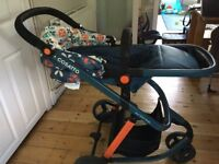 Cosatto Travel System (Pram+ Carry Cot) Including Car Seat and Isofix Base