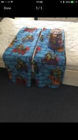 Ninja Turtles Curtains, Double Duvet cover and easy fit lampshade