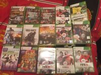 Xbox 360 with connect and 15 games