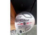Titeist 17 degree pro. trajectory 904 left handed driver golf club
