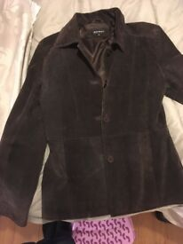 Barney's suede leather jacket