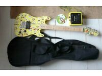 Sponge Bob Square Pants Electric Guitar with Amp and Case