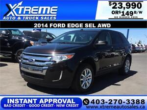 2014 Ford Edge SEL AWD $0 DOWN $149 b/w APPLY NOW DRIVE NOW