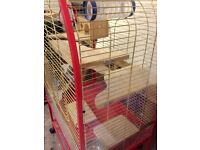 large bird or small furry mammal cage,great condition 5x3x2 top opens