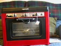 NEW,OUTDOOR CAMPING OVEN,COMPACT SIZE,PORTABILLITY,AND COOKING POWER,MATCHLESS IGNITION SYSTEM