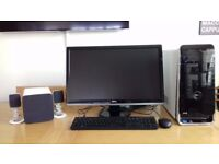 Dell XPS8300 Core i72600 CPU at 3.4Ghz 12GB Ram 2TB OFFICE 2010 +WINDOWS 10. 24 inch monitor