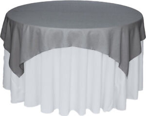 200 White spandex chair covers & 25 grey overlay.