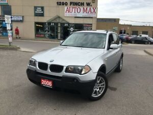 2006 BMW X3 2.5i, Panoramic Roof, Alloy Rims, Low KM