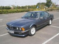 1986 C BMW 635 CSI AUTO COUPE IN METALLIC BLUE MODERN CLASSIC CAR WITH AIR CON