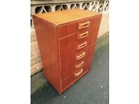 Teak Retro chest of drawers