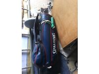 golf club with bag with balls