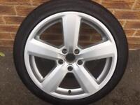 "Audi A4- A6 genuine Audi 18"" alloy wheel for sale only got one ex condition £120 call 07860431401"