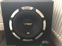 10 inch vibe slick subwoofer 1050 watts with vibe slick amplifier