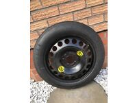 Spare wheel with tyre 125/85/16 5 stud(corsa etc)
