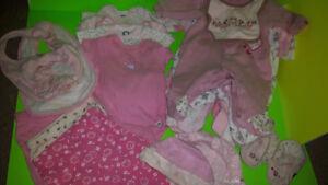 Pink Baby Clothes, Newborn to 6 Months