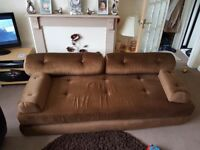 Brown Foam Sofa Bed