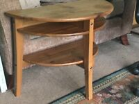 IKEA Half Moon Pine Coffee Table H22in/56cm W30in/76cm D14in/35cm