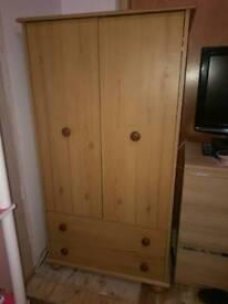 Solid pine childs wardrobe