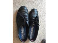 Keds black leather shoes uk5